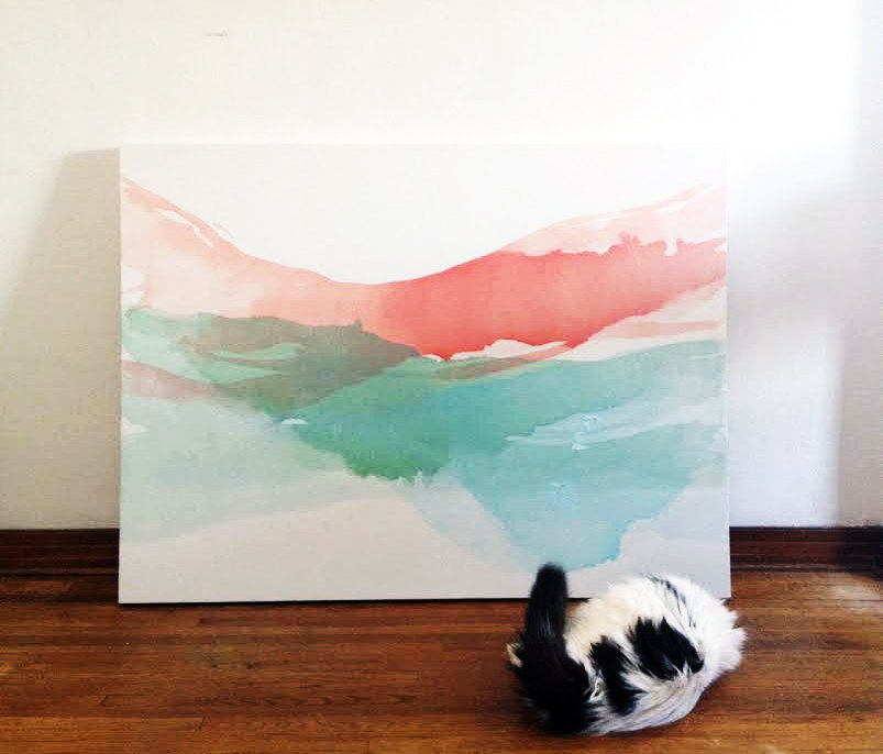 painting and studio cat