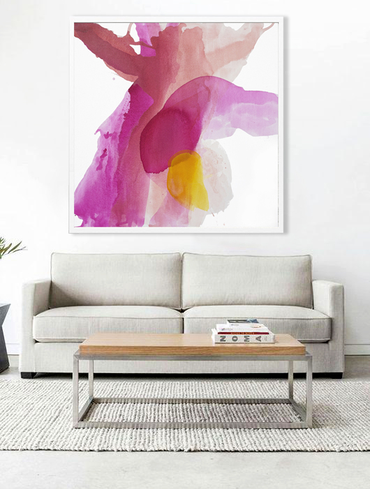Spring Jubilation Large Watercolor Canvas Art