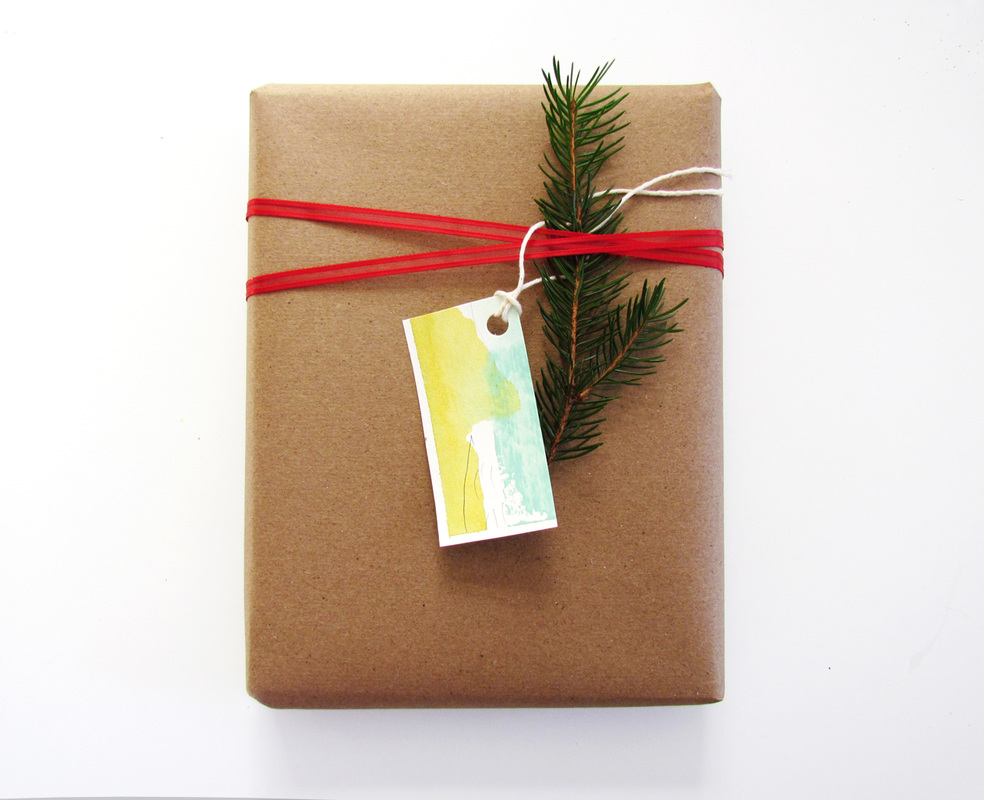 Abstract Art Gift tag