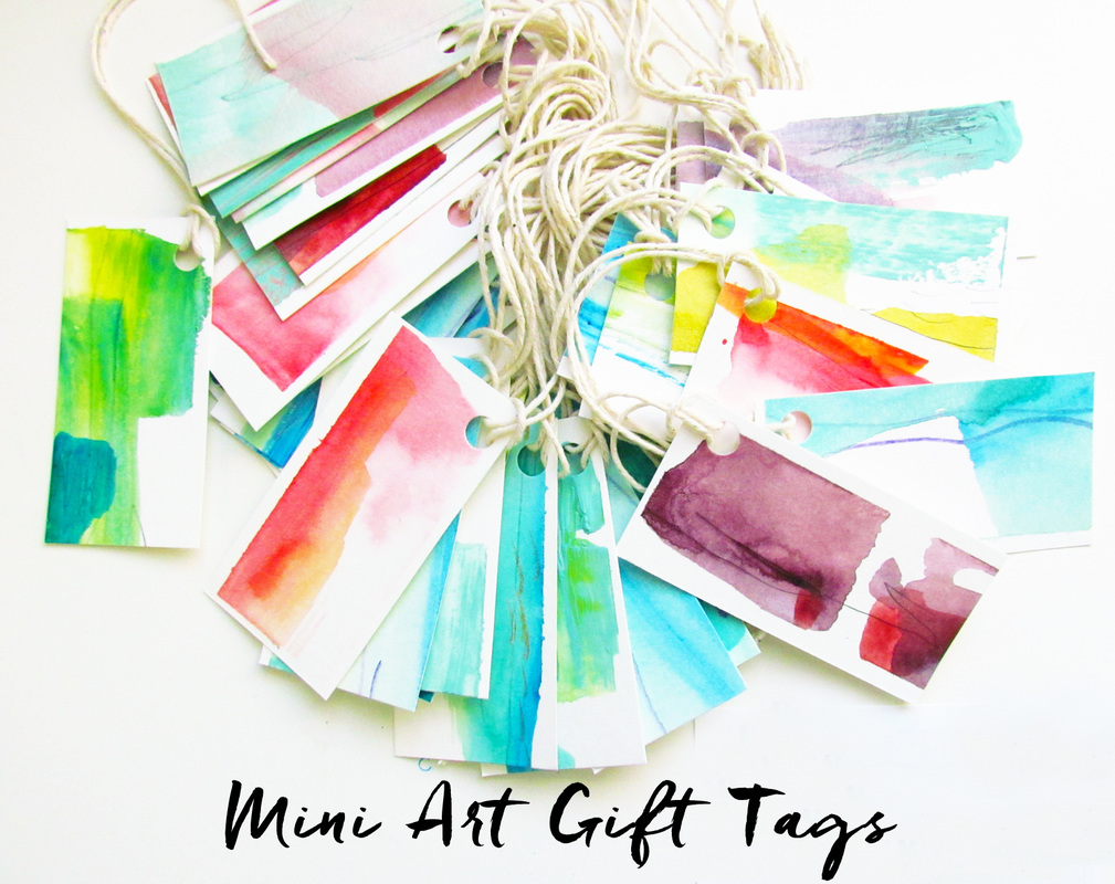 Mini Watercolor Original Art Gift Tag Free