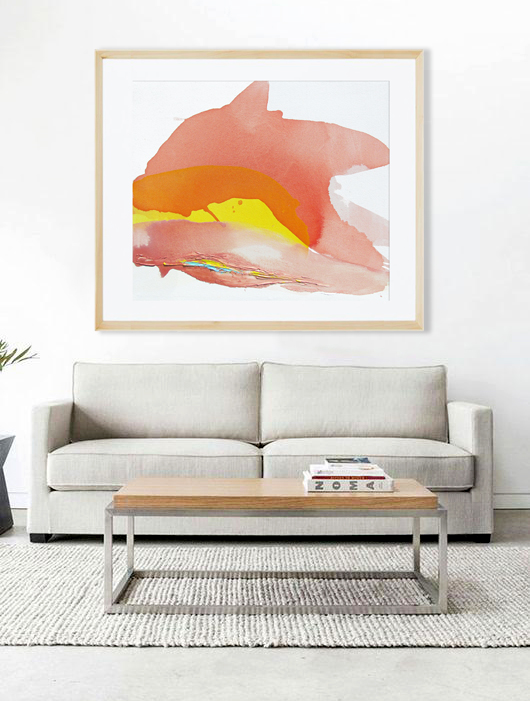 Sunrise Abstract Art Print, Lauren Adams Art
